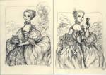 Mme. Pompadour thank you cards