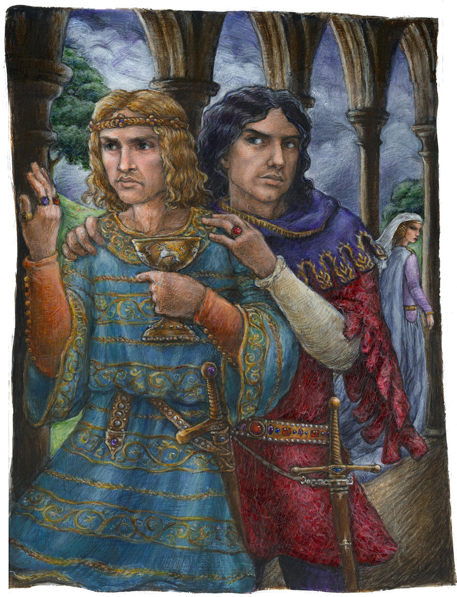 Edward II and Piers Gaveston by suburbanbeatnik