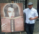 Me and one of my paintings
