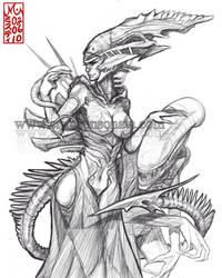 Alien Queen W.I.P. by Sayda