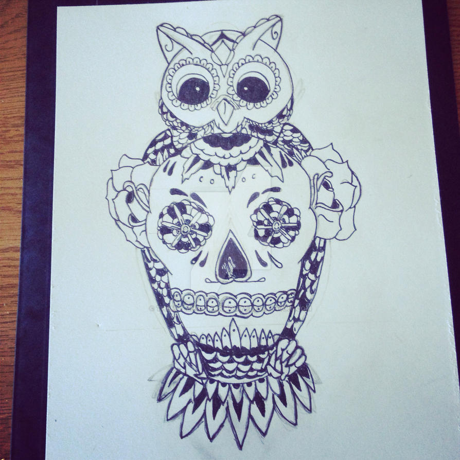Owl And Skull Tattoo Sketch By Themillenniumarmoury On Deviantart