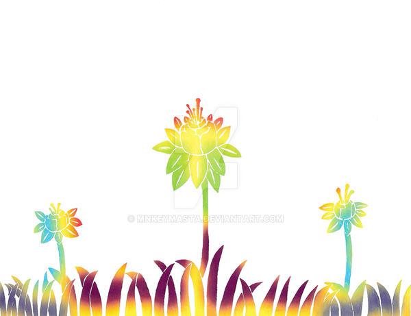Flower field by Mnkeymasta