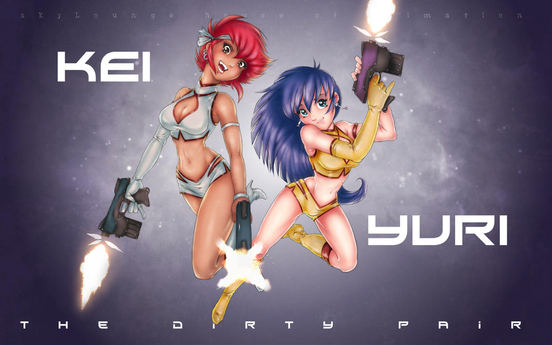 scratches 32 The Dirty Pair by renderstan