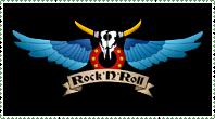 Rock N Roll stamp by krassrocks