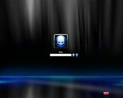 Vista LogonXP Blue on Black by Dr-Bee