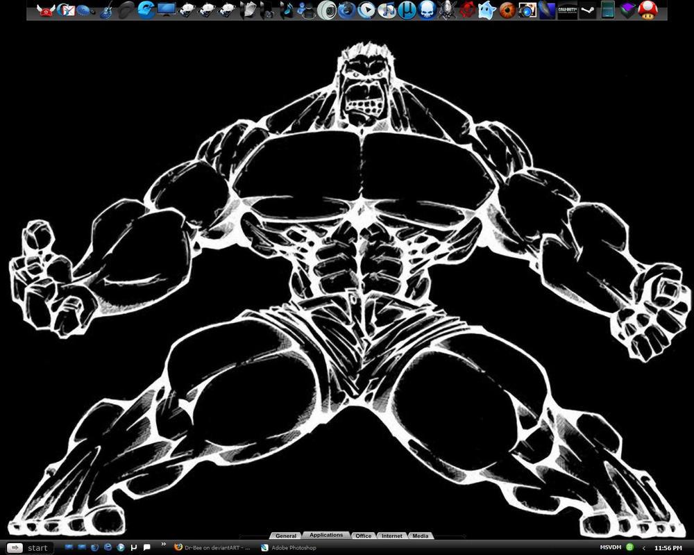 Hulk Spread Negative Desktop by Dr-Bee