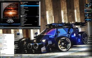 Turbo Hybrid Blue Desk by Dr-Bee