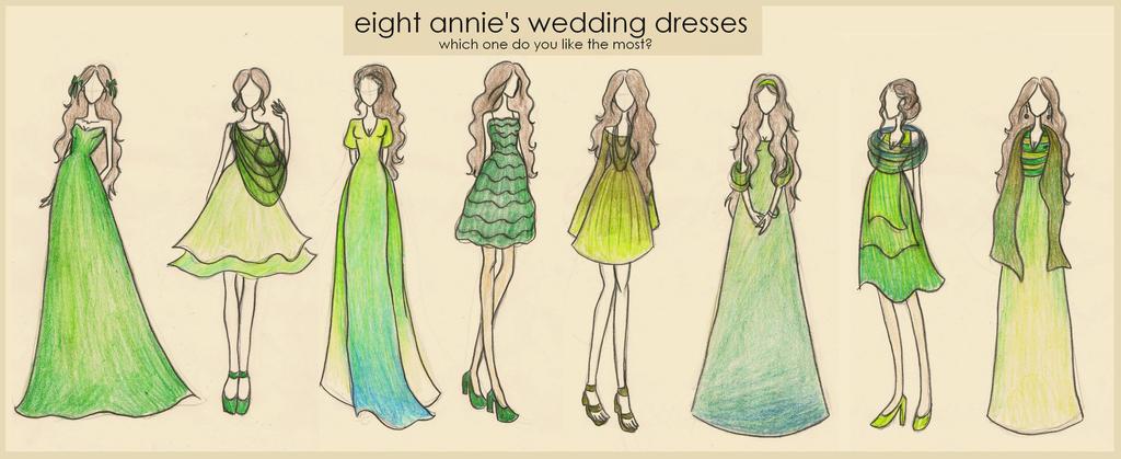 Finnick Odair And Annie Cresta Wedding Eight annies dresses by