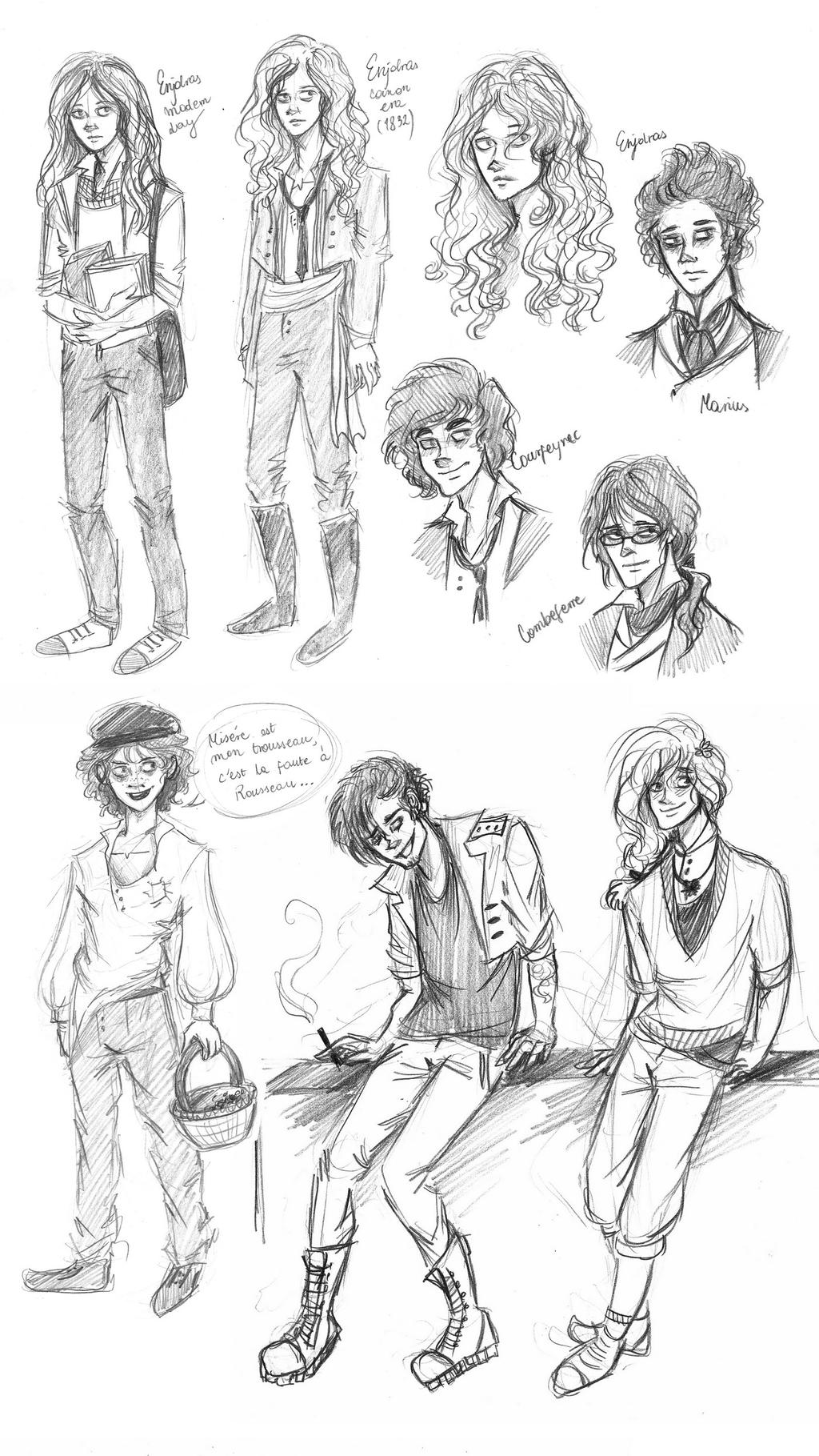 Les mis recent sketches by xxignisxx on deviantart for Les miserables coloring pages