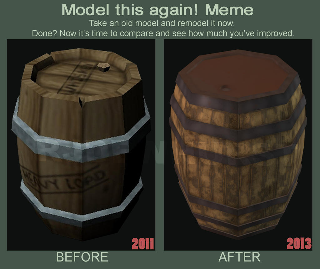 Model this again! - Barrel by Doe-jo