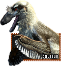 Saurian Dakotaraptor stamp by HunterStrait