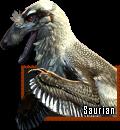 Saurian Dakotaraptor stamp by HunterStrait