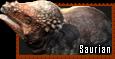 Saurian Pachycephalosaurus stamp by HunterStrait