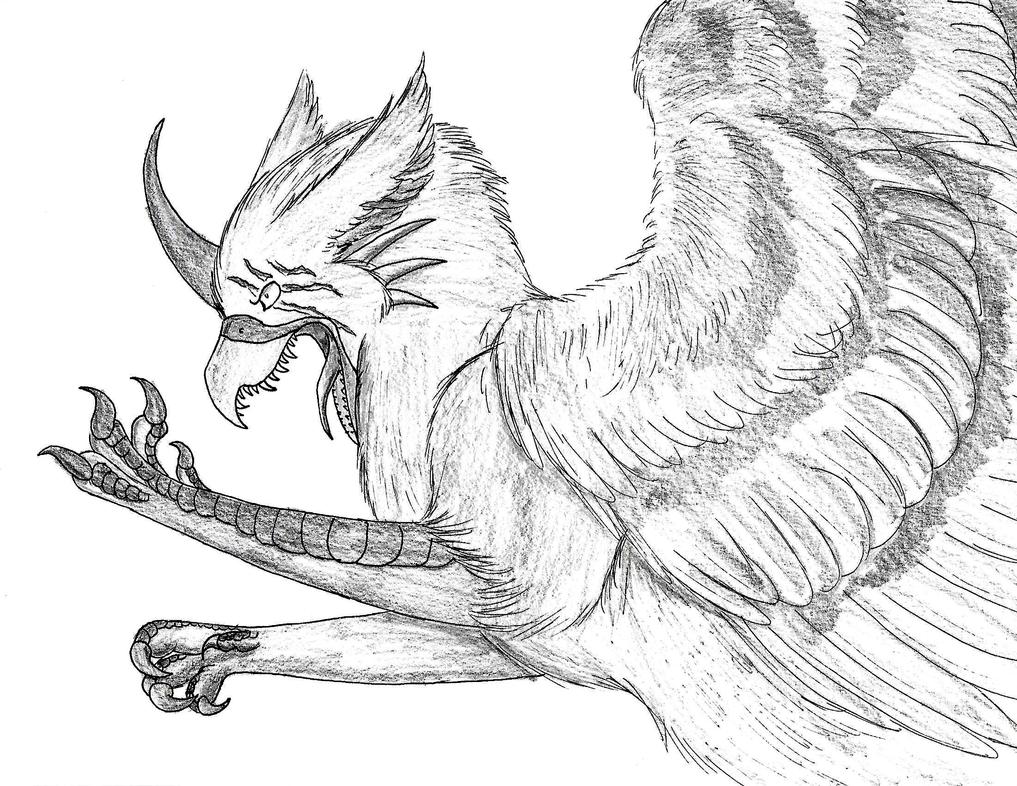Gore/Inktober- Day 9 Monster Form by HunterStrait