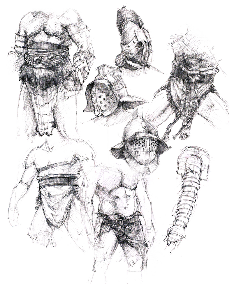 Gladiator sketches by IceRider098