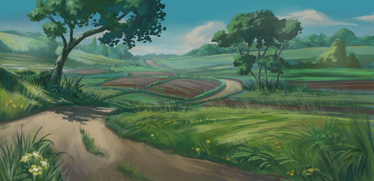 Fields Landscape by IceRider098