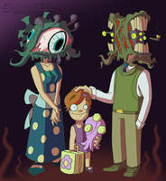June 4 - Eldritch Family by EVanimations