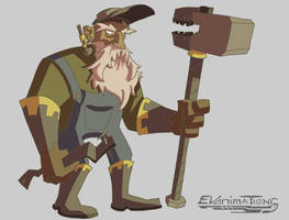 Day 5 - God of Metalworking by EVanimations