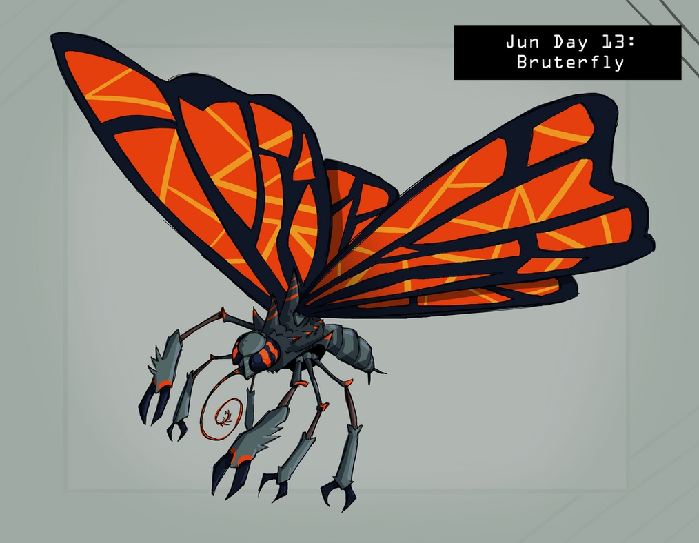 CDC Jun 2018 Day 13 - Bruterfly by EVanimations
