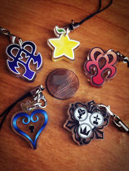 Kingdom Hearts Phone Charms