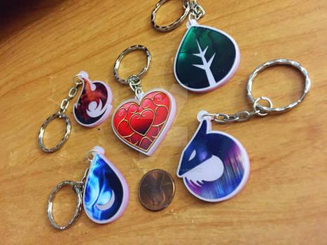 Pokemon Go and Legend of Zelda Keychains