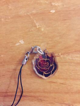 RWBY Ruby Rose Clear Acrylic Phone Charm