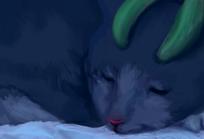 Kuro Sleeping - A Loyal Son Ch. 2 speedpaint by JunkUpShowUp