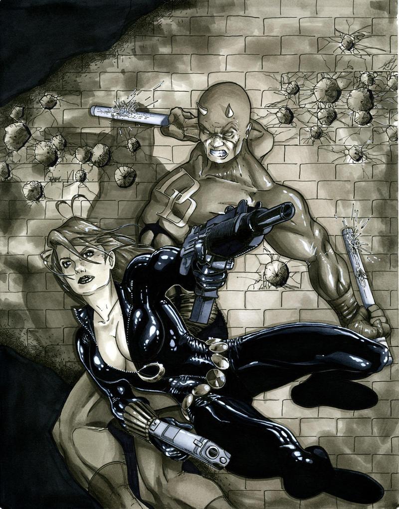 Black Widow and Daredevil by Timetravel6000v2 on DeviantArt
