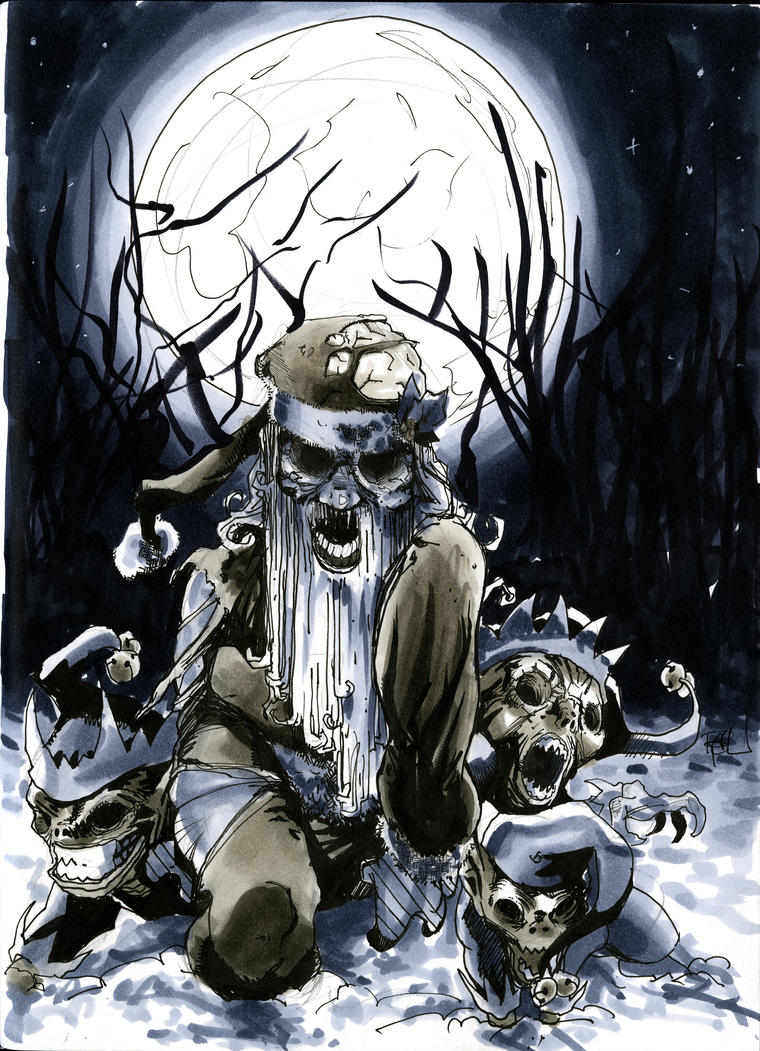 Zombie Santa by RichardCox