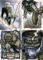 Marvel 70th Sketch Cards -n by RichardCox