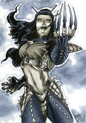 Lady Deathstrike Sketch Card by RichardCox