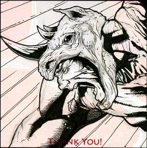 Rhino Sketchbk 2010 Drawing by RichardCox