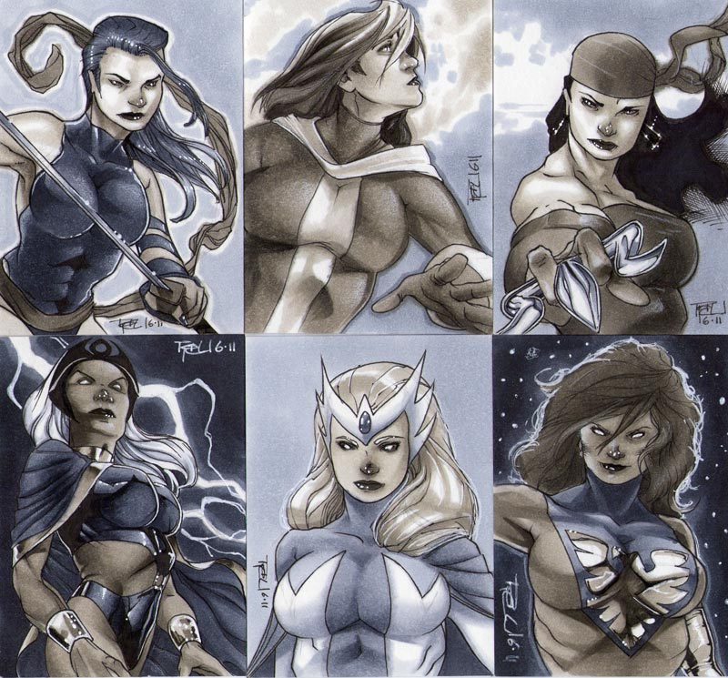 Heroes Con 2011 Sketch Cards by RichardCox
