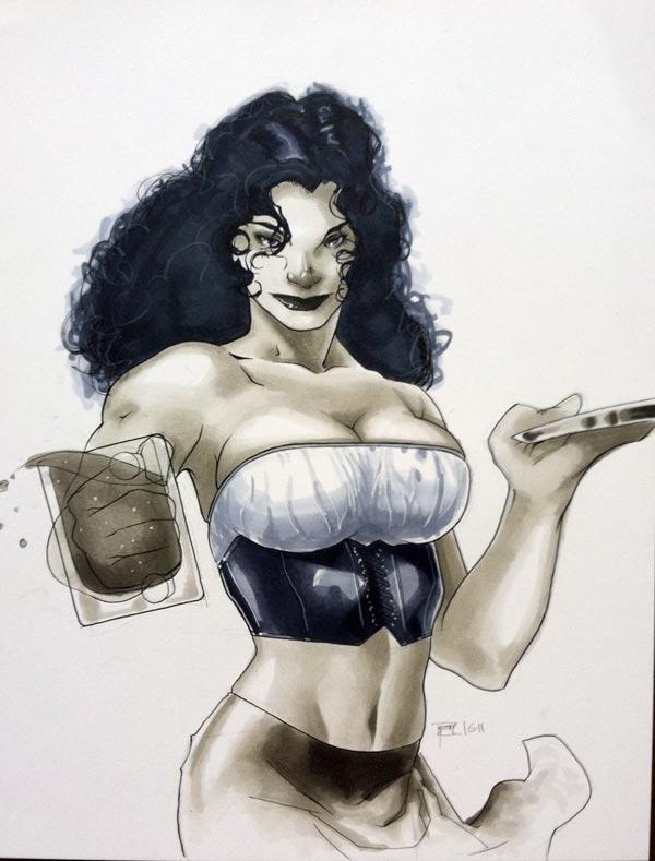 Barmaid HC 2011 Con Sketch by RichardCox