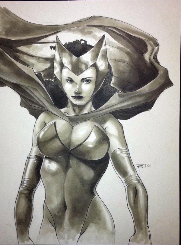 Scarlet Witch HC 2011 Sketch by RichardCox