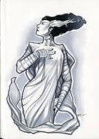 Bride of Frankenstein sketch by RichardCox