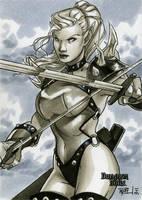 Warrior Elf DD Sketch Card by RichardCox
