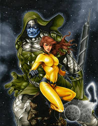 Ronan the Accuser and Crystal by RichardCox