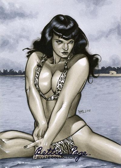 Bettie Page Artist Proof 02 by RichardCox