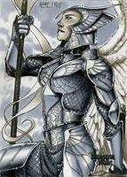 Archangel Dungeon Dolls Sketch Card by RichardCox