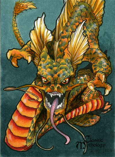 Ryujin Classic Mythology Sketch Card By Richardcox On Deviantart