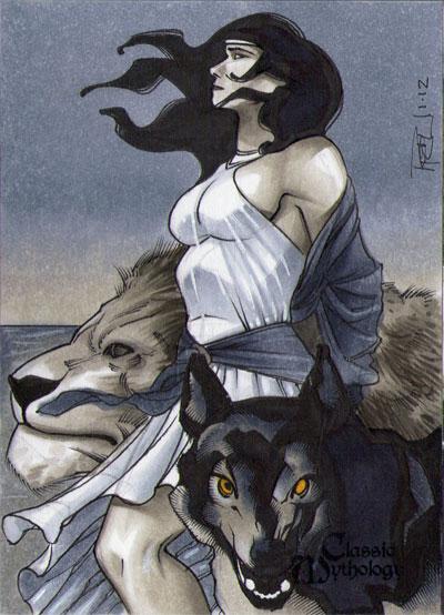 Circe Classic Mythology Sketch Card By Richardcox On