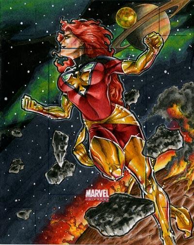 Marvel Universe Dark Phoenix Artists Proof by RichardCox
