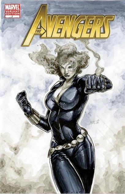 Black Widow Avengers 7 Cover by RichardCox