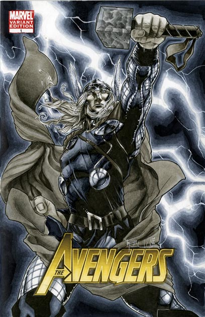 Thor Avengers 1 Cover by RichardCox