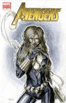 Black Widow Avengers 7 Sketch Cover
