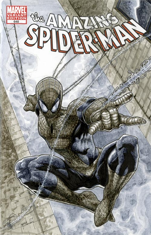 Spider-Man ASM 648 Sketch Cover by RichardCox