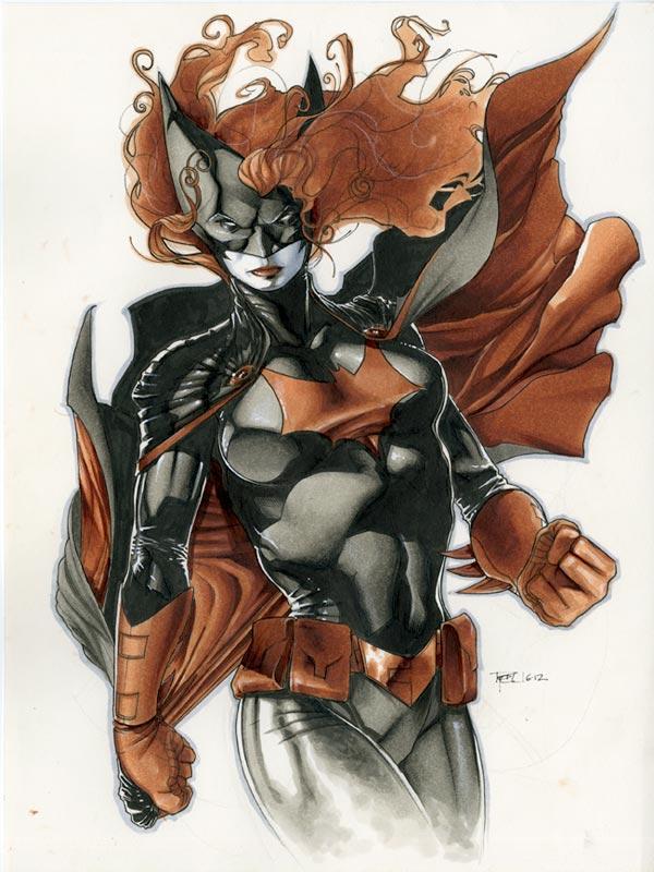 Batwoman Drawing by RichardCox