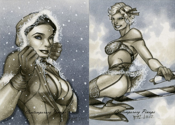 Christmas Contemporary Pinups 02 by RichardCox