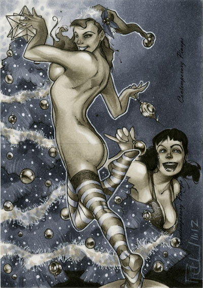 Christmas Contemporary Pinups 01 by RichardCox